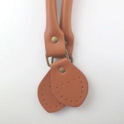 Anses à coudre articulées marron clair 60cm