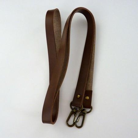 Anse bandoulière marron 120cm