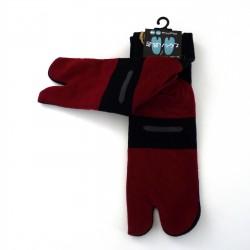 Chaussettes tabi noires fausses claquettes et taiyaki pointure 39 à 43