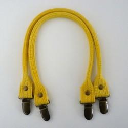 Anses à clipper jaunes en coton 40cm
