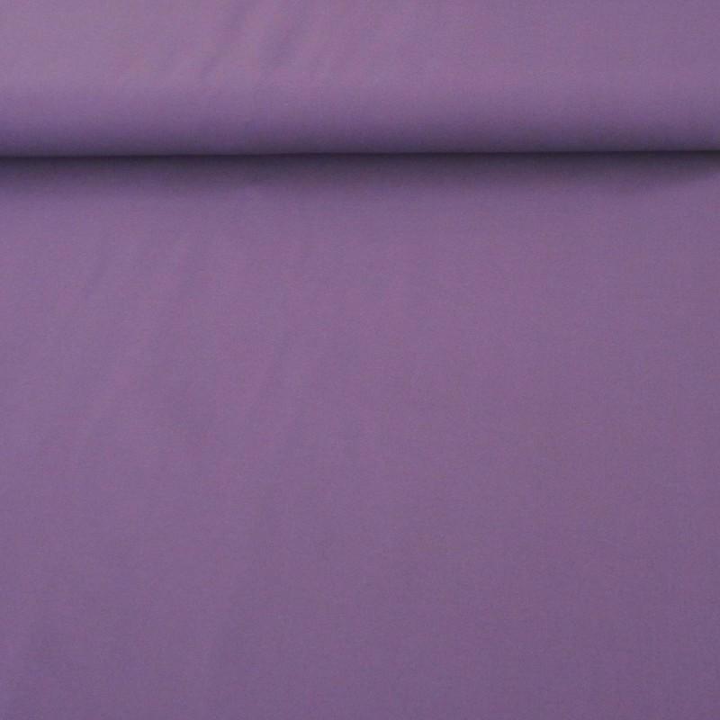 Tissu coton uni couleur violet moyen