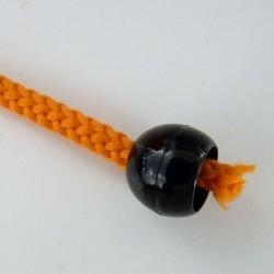 2 embouts de cordon noirs 13mm