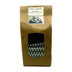 Kit écharpe en crêpe et polaire motifs de flèches noires et blanches