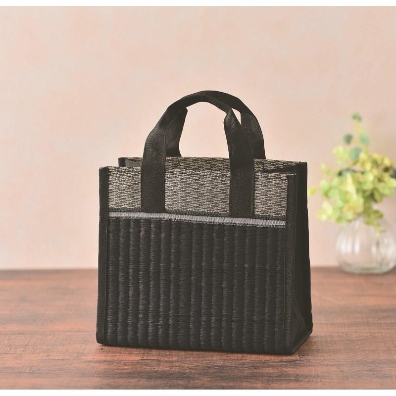 Bag sewing kit in black tatami mat and braid