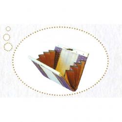 Kit couture porte-monnaie en natte et galon de tatami naturel