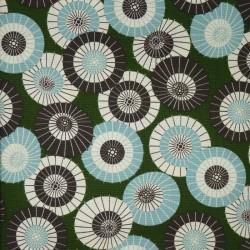 Tissu japonais vert motifs...