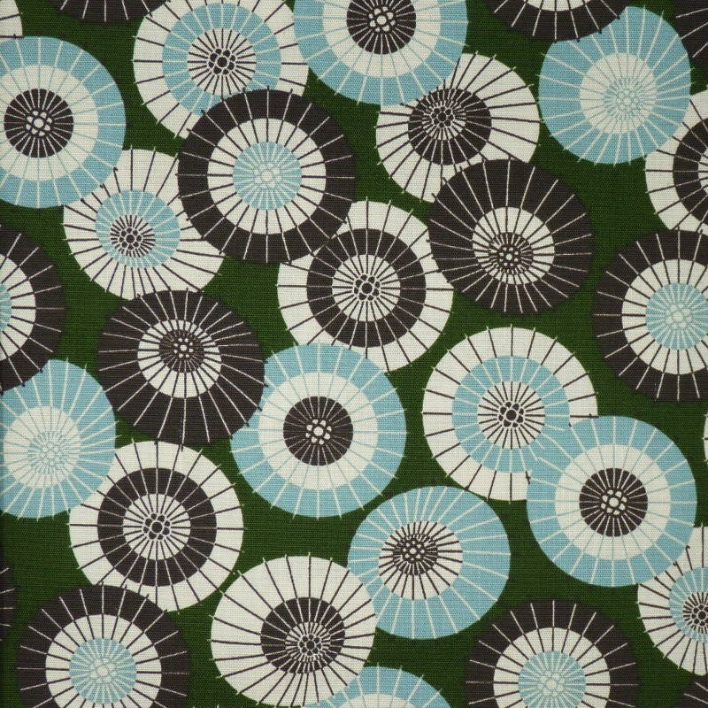 copy of Tissu japonais bleu nuit motifs d'ombrelles