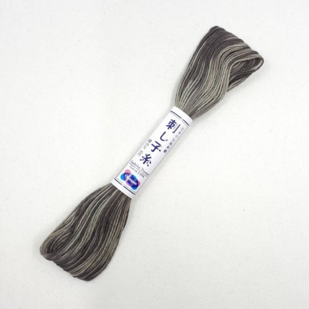 Fil sashiko mix gris 20m