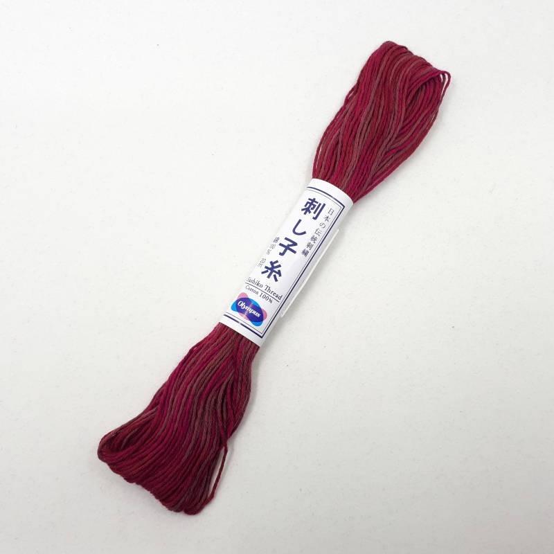 Fil sashiko mix rouge framboise 20m