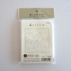 Coupon tissu sashiko blanc...
