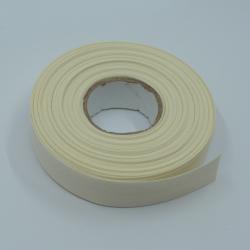 biais 20mm ivoire uni