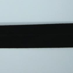 biais polycoton 20mm plié noir uni