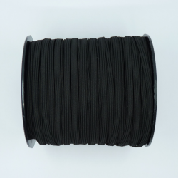 Flat elastic black 5mm