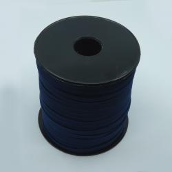 flat 5mm dark blue elastic