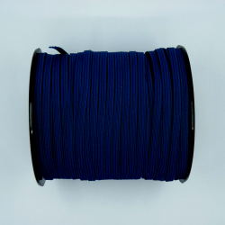 flat 5mm dark blue elastic