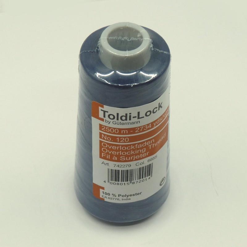cône Toldi-Lock Gütermann bleu marine fil polyester 2500m