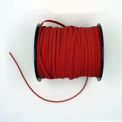 élastique plat rouge 5mm