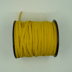 Flat yellow elastic 5mm