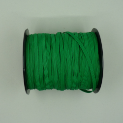 flat 5mm green elastic