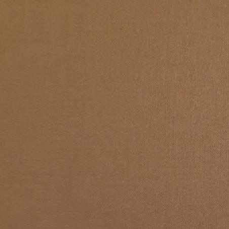 Plain brown cotton fabric
