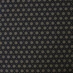 Tissu noir motif petit asanoha