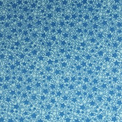 cotton fabric with blue stars