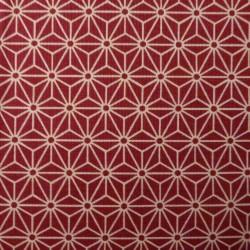 tissu japonais asanoha rouge