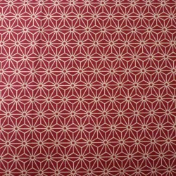 tissu japonais étoiles rouge