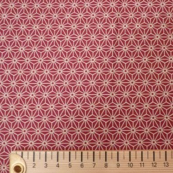 tissu japonais en coton avec motifs asanoha rouge