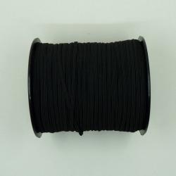 flat 3mm blakc elastic