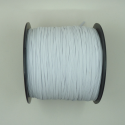 flat 3mm white elastic