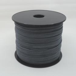 flat 8mm grey elastic