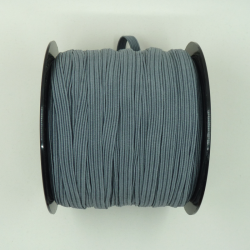 flat 8mm grey elastic