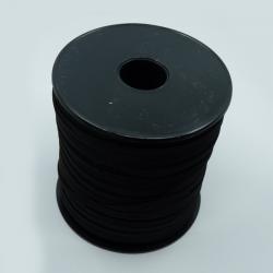 Flat elastic black 5mm
