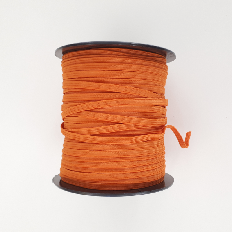 Elastique plat orange 5mm de large