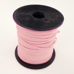 élastique plat rose 5mm