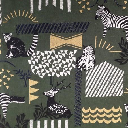 coton lin Echino kaki zèbre hibou lémurien cerf