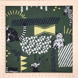 tissu coton lin Echino kaki zèbre
