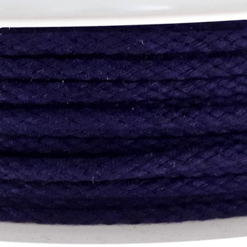 copy of Cordon tressé noir diamètre 4mm au mètre