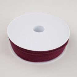 Cordon tressé bordeaux diamètre 4mm au mètre