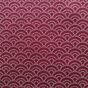 Tissu rouge foncé petit seigaiha