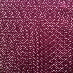 Tissu japonais vagues rouge foncé