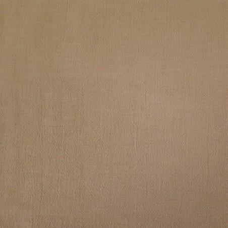 Toile sashiko beige sable uni au mètre