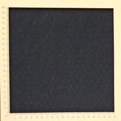 Tissu japonais indigo petits motifs fleurs et hexagones
