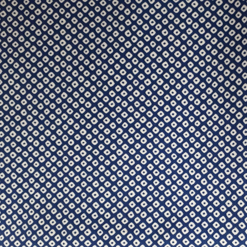 Japanese dark blue fabric shibori kanoko like patterns
