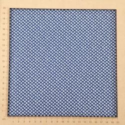 Tissu japonais bleu foncé motif shibori kanoko en coton
