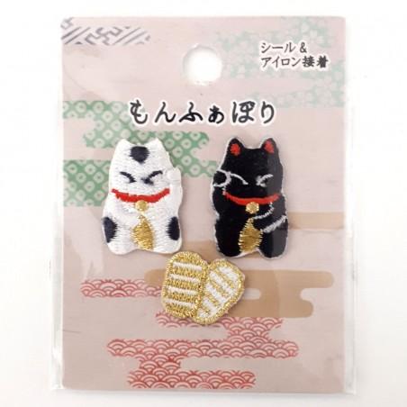 Manekineko luckey cat iron-on patches