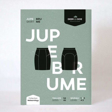 Pencil skirt pattern - Brume from Deer and Doe for stretch fabrics