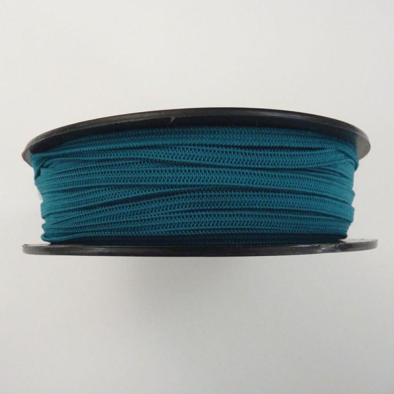 Flat 5mm peacock blue soft elastic