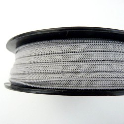 Flat soft elastic light grey 5mm for masks